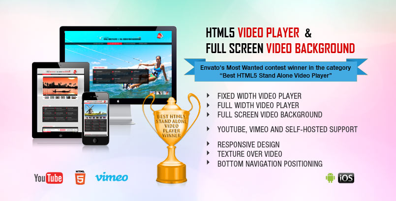 HTML5 Video Player & Full Screen Video Background