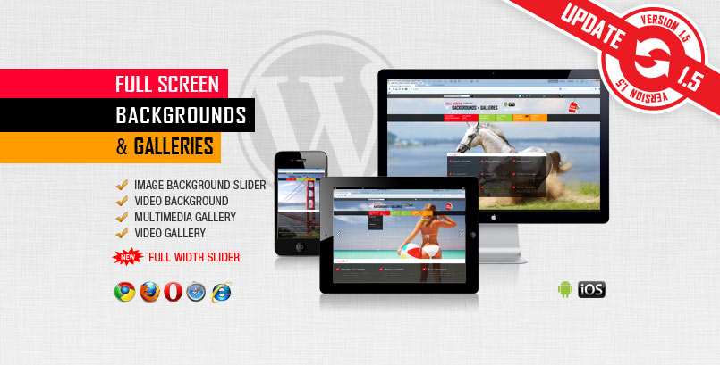 Image and Video FullScreen Background WordPress Plugin - PG