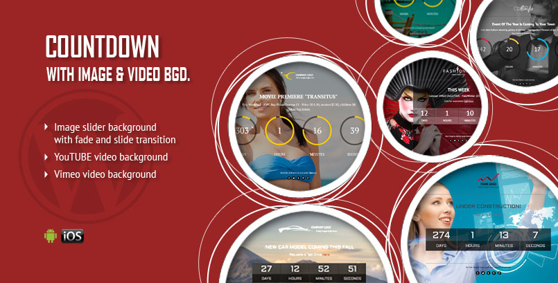 Image or Video Background CountDown WordPress Plugin