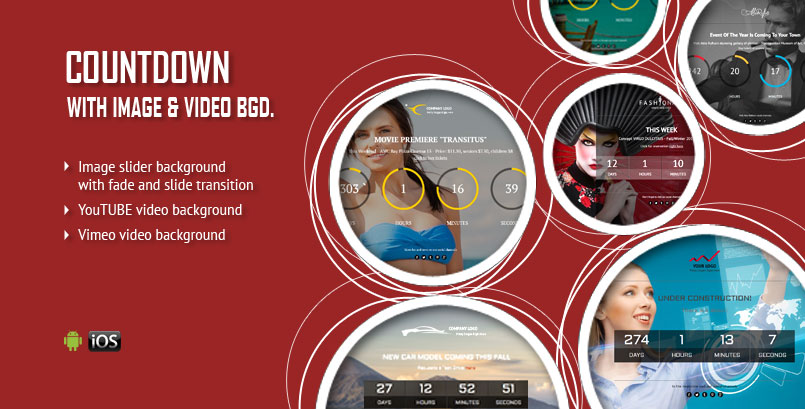 Image or Video Background CountDown jQuery Plugin