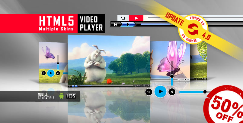 Multiple Skins HTML5 Video Player