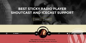 Sticky Radio Player Full Width Shoutcast Icecast WP Plugin