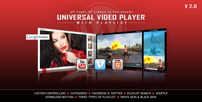 Universal Video Player WordPress Plugin