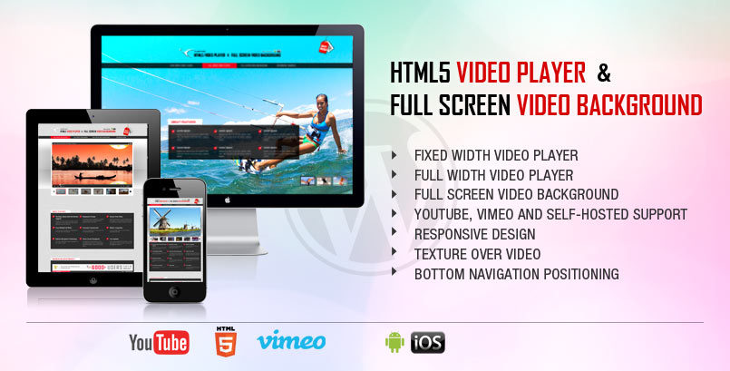 HTML5 Video Player and FullScreen Video Background - WP Plugin