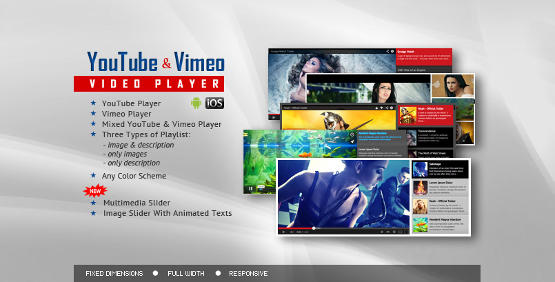 Youtube Vimeo HTML5 Video Player and Slider jQuery Plugin