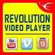 Bottom Playlist HTML5 Video Player