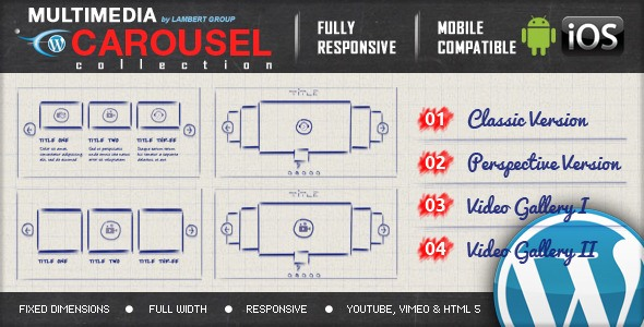MULTIMEDIA RESPONSIVE CAROUSEL - WP Plugin