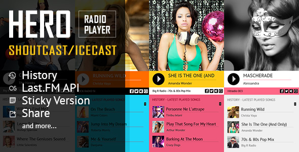 Top 3+ Sticky HTML5 Radio Player Plugins ShoutCast & IceCast Support