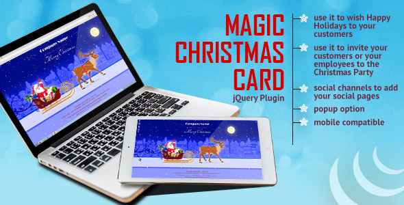 Magic Christmas Card With Animation jQuery Plugin