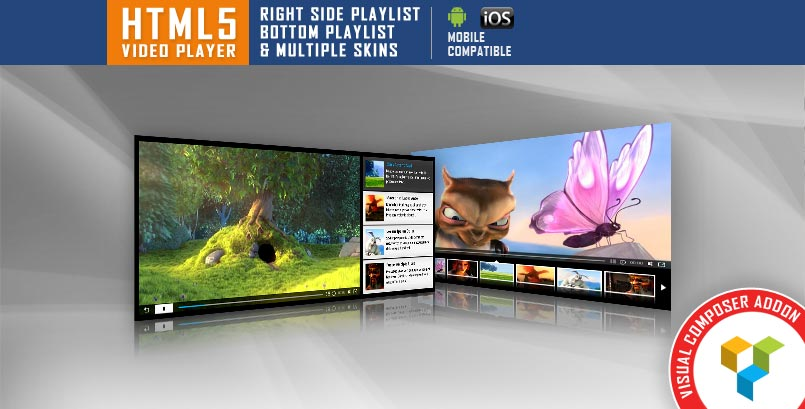HTML5 Video Player VC Addon