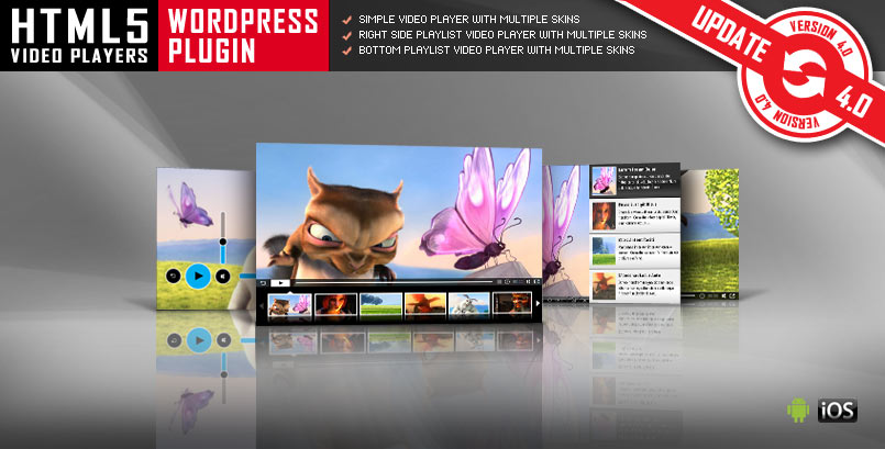 HTML5 Video Player WordPress Plugin - PG