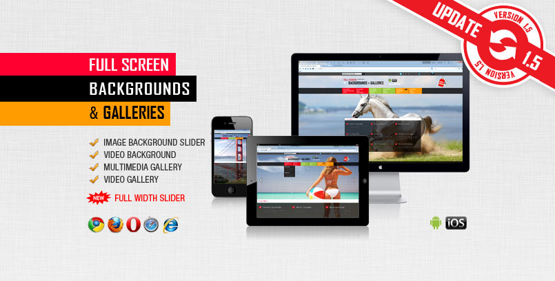 Image and Video FullScreen Background jQuery Plugin - PG