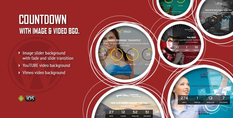 Image or Video Background CountDown WordPress Plugin