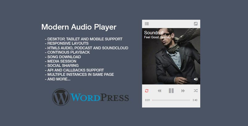 Modern Audio Player WordPress Plugin