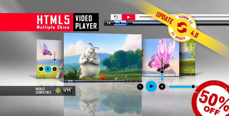 Multiple Skins HTML5 Video Player
