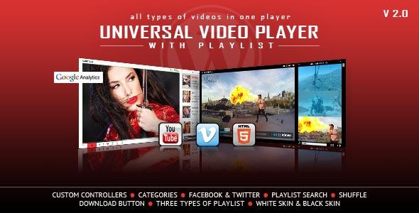 ---- Universal Video Player WordPress Plugin ----
