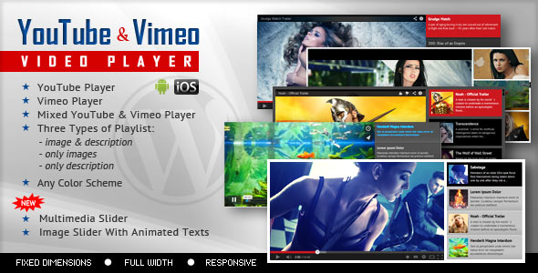 ---- YouTube Vimeo Video Player and Slider WP Plugin ----