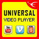 Universal HTML5 Video Player – YouTube/Vimeo/Self-Hosted
