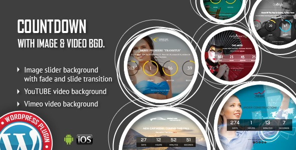 CountDown With Image or Video Background - Responsive WordPress Plugin