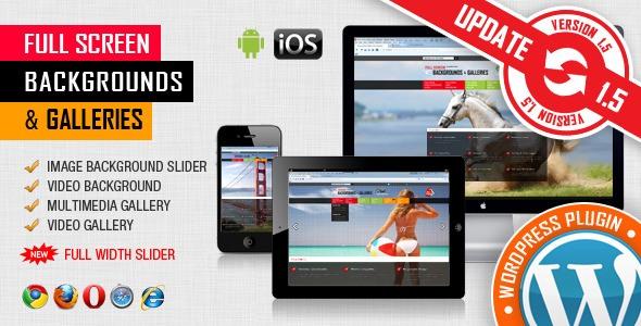 Image & Video Full Screen Background WordPress Plugin